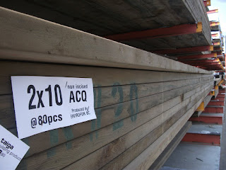 ACQ is one of many chemicals added to wood in order to extend it's life