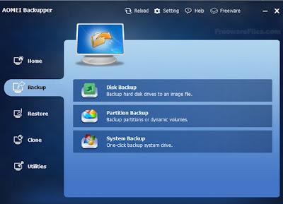 AOMEI Backupper 1.1 Full for Windows