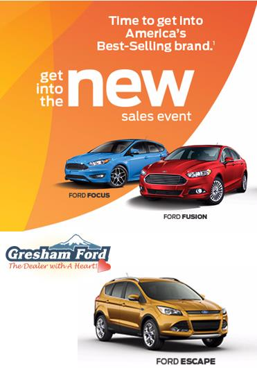 Get Into the New Ford Sales Event at Gresham Ford