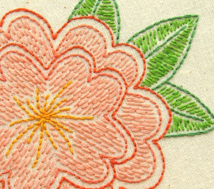 Bugs And Fishes By Lupin Free Flower Embroidery Pattern