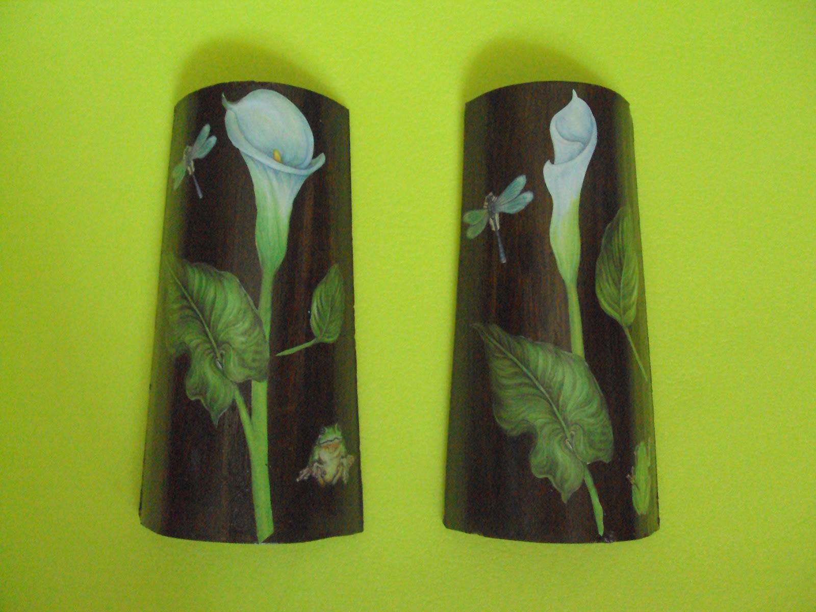 Manualidades mariavril decoupage - Tejas pequenas decoradas ...