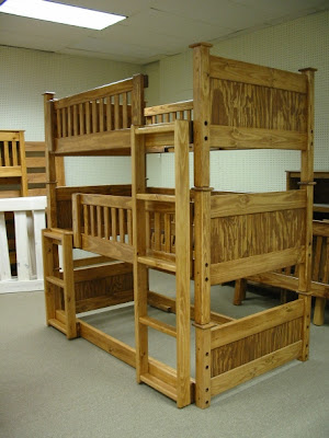 Triple bunk bed house design interior for 3 beds in one bunk bed