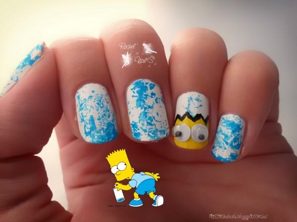 Bart nail art