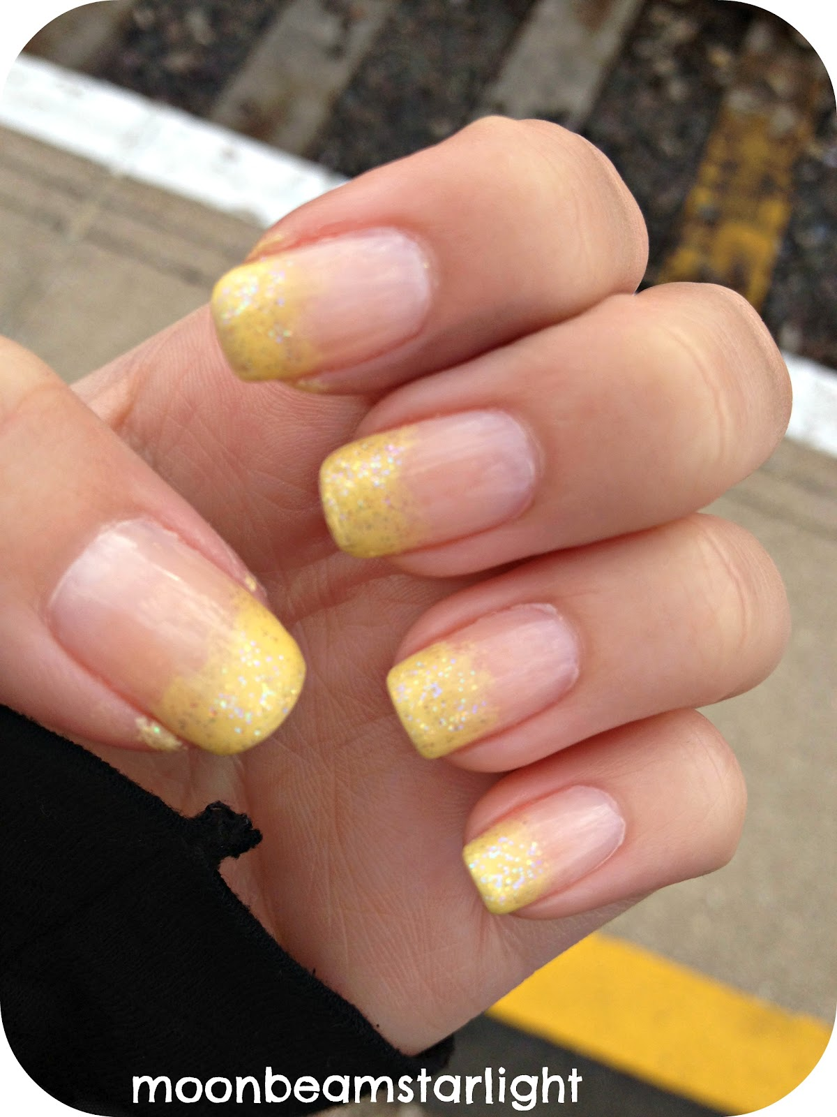Yellow French Tips
