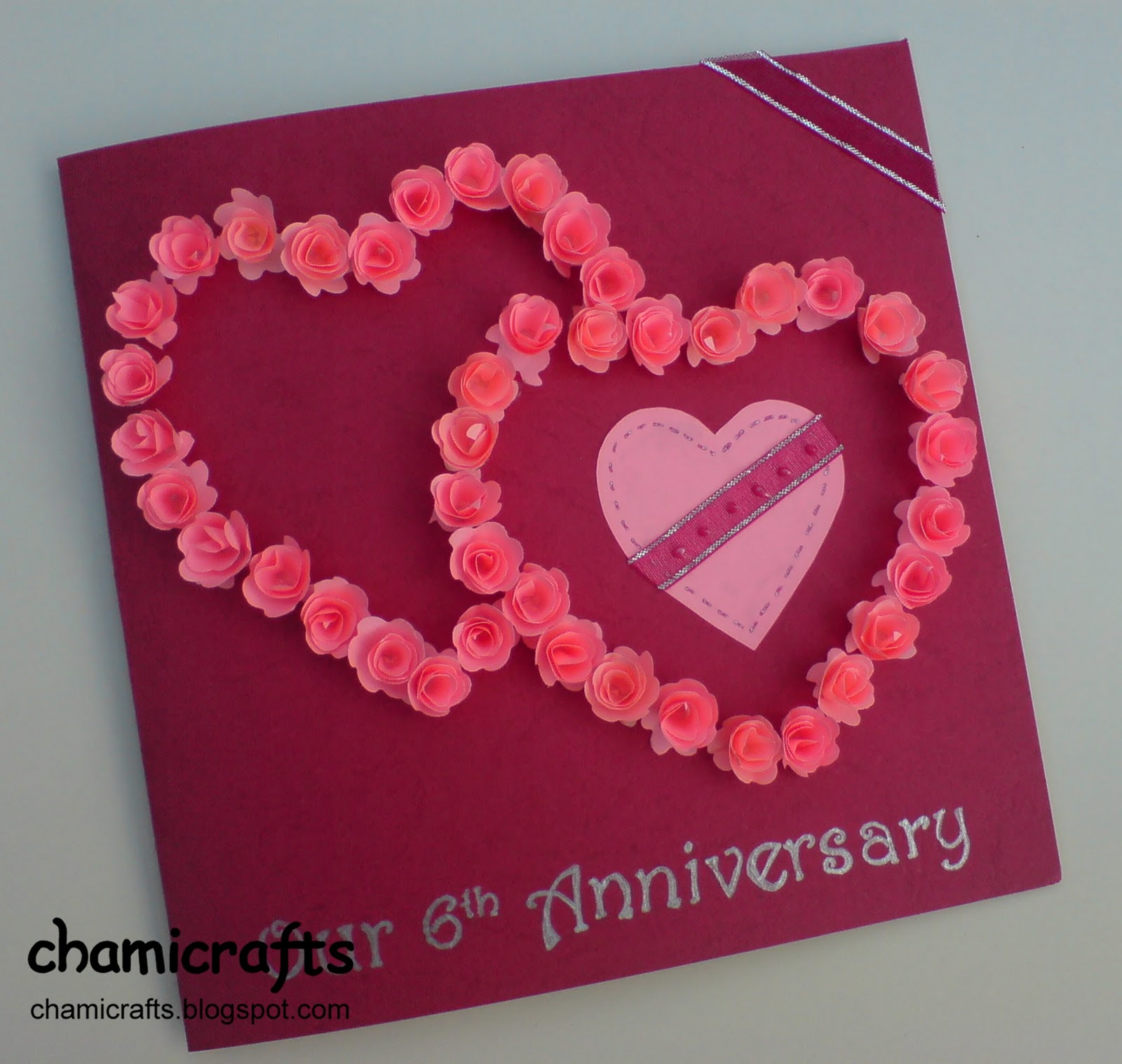 Chami Crafts Handmade Greeting Cards Two Hearts In Love