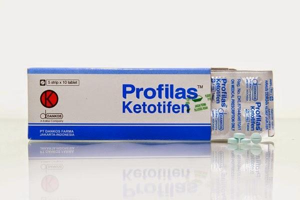 KOMPOSISI PROFILAS Tablet, Sirup (Ketotifen)
