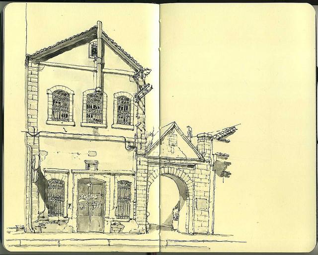 17-Main-Street-Mattias-Adolfsson-Surreal-Architectural-Moleskine-Drawings-www-designstack-co
