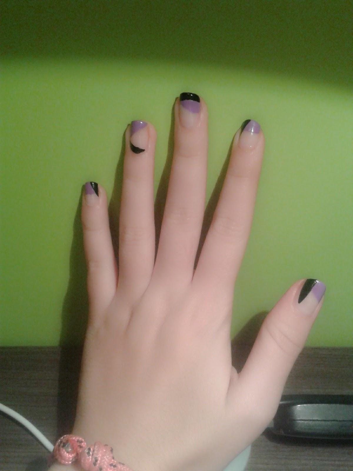 Diseño de uñas: Asimétrico