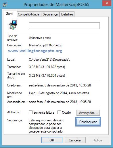 O Windows protegeu o computador - O Windows SmartScreen impediu a inicialização de um aplicativo não reconhecido. Se você executar esse aplicativo, o PC poderá ficar vulnerável.