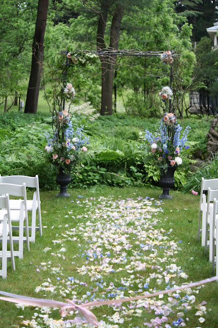 yaddo gardens whimsical woodland wedding arch