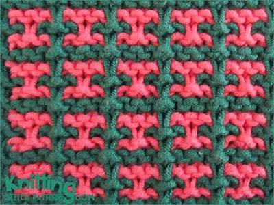 Two Colour Slip Stitch Pattern 3 Knitting Stitch Patterns