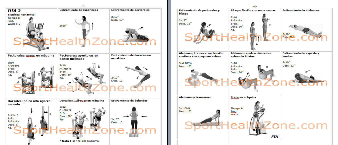Ejercicios fitness wellness tabla de ejercicios for Gimnasio las tablas