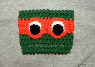Swirls and Sprinkles: Free TMNT cup Kozie crochet pattern