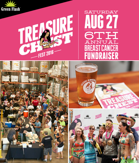 Don't Miss Green Flash Brewing Treasure Chest Fest - August 27