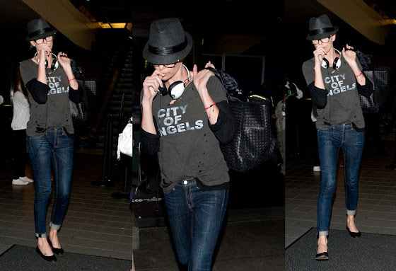 Charlize Theron at LAX