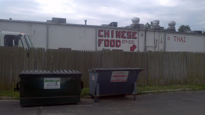 Chinese Food and Thai, brighton, michigan, dumpster, trash, dirty, food