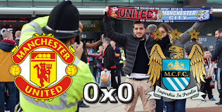 Ficha da Bola Manchester United 0x0 Manchester City