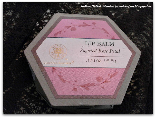 Lip Balm Alert: Forest Essentials Luscious Lip Balm Sugared Rose Petal
