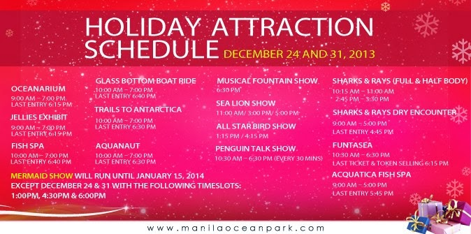 manila shopper  major malls  u0026 theme parks u0026 39  holiday schedule 2013