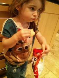 tasting the crisps