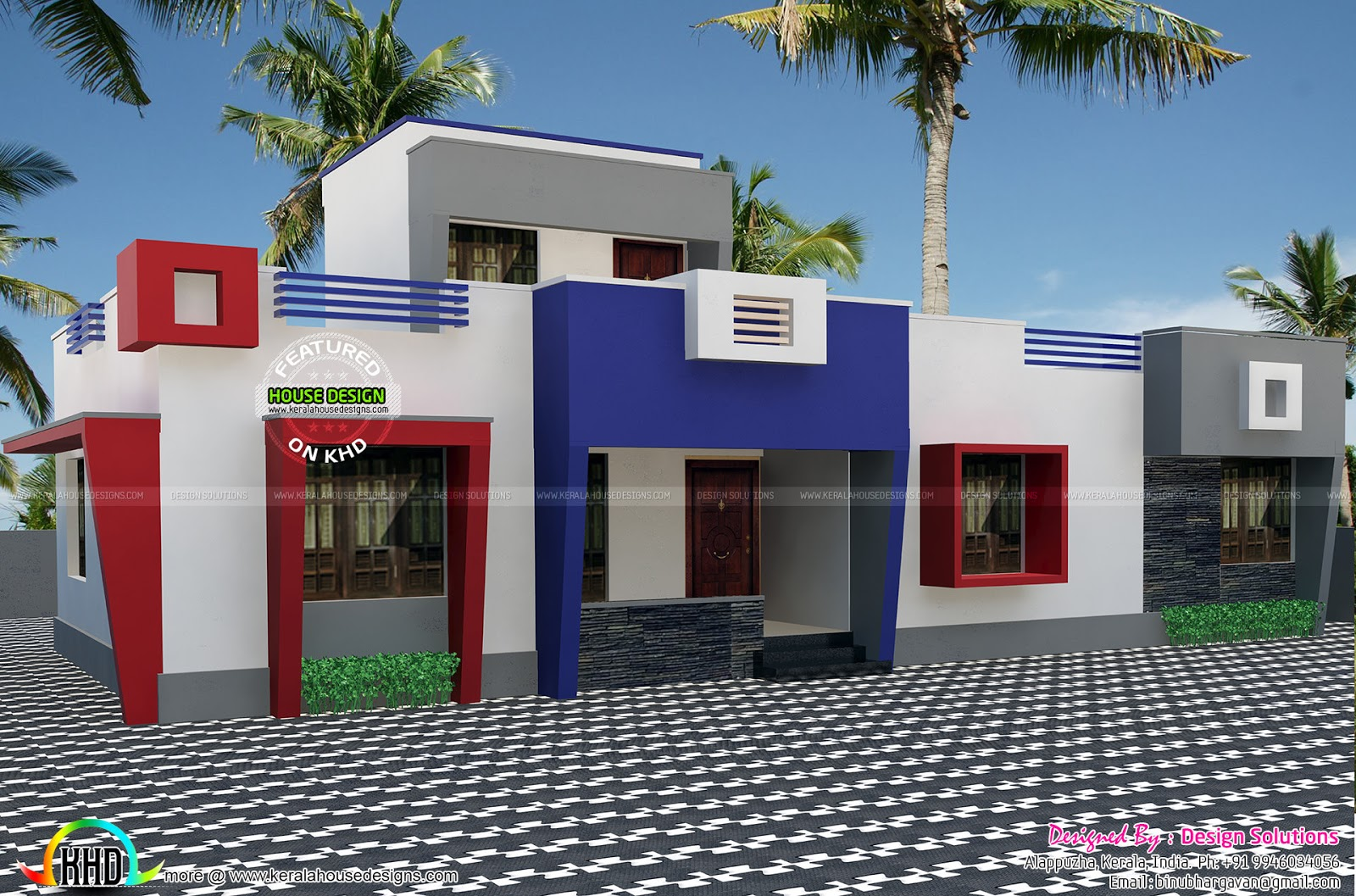 One floor flat roof home plan kerala home design and for One floor house photos