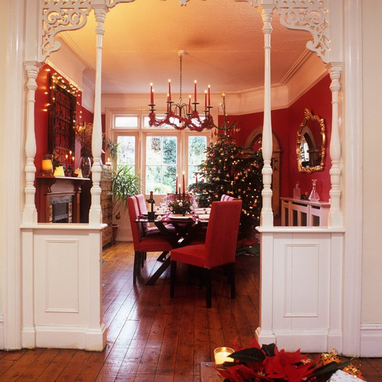 New home interior design step inside this cosy christmas for Dining room entrance