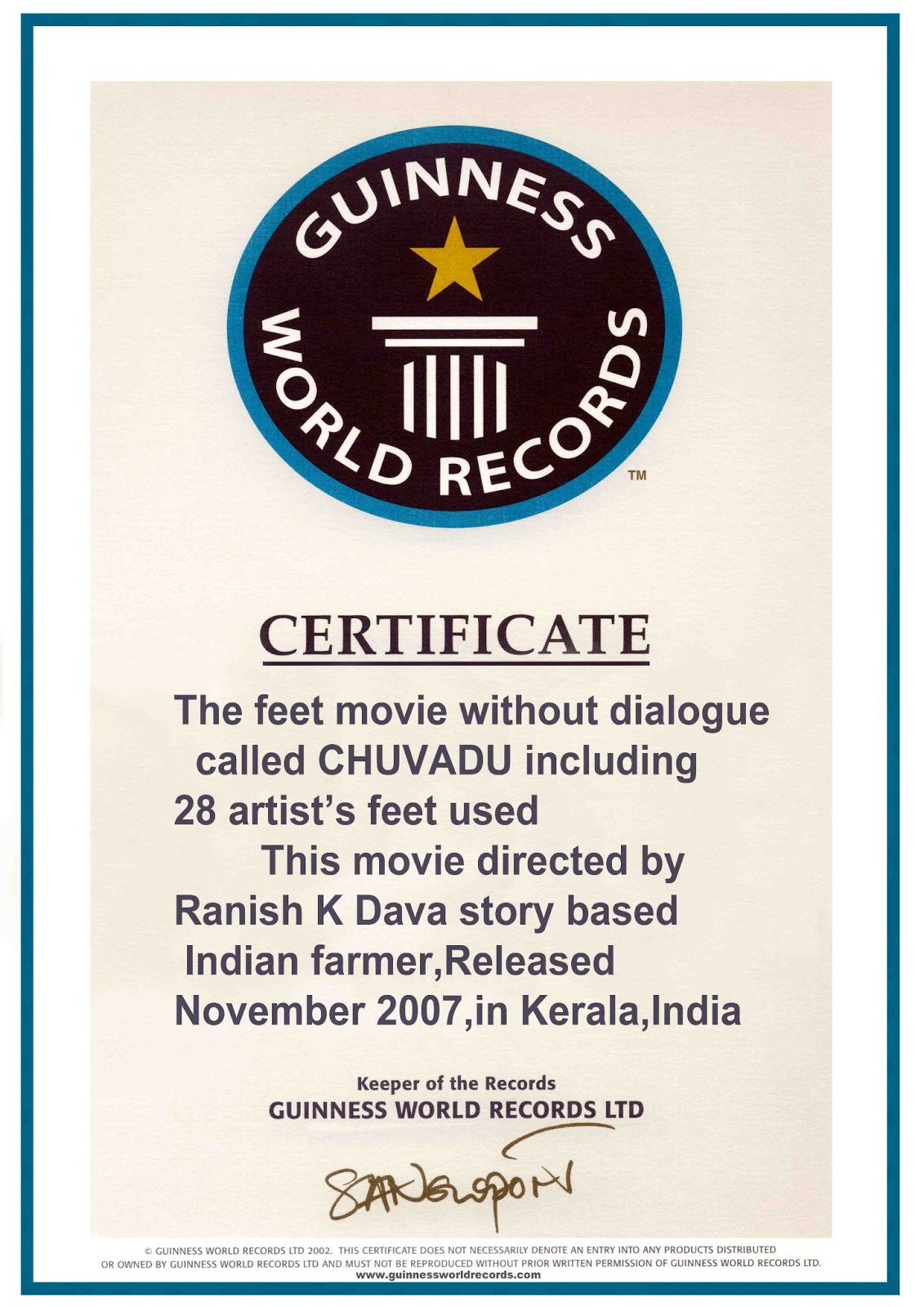 Guinness World Record Certificate Template Professional Mandegarfo