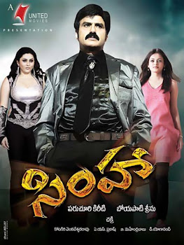 Poster Of Simha (2010) In Hindi Tamil Dual Audio 300MB Compressed Small Size Pc Movie Free Download Only At worldfree4u.com
