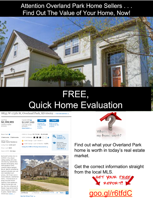 Find out the value of your home in Overland Park Kansas