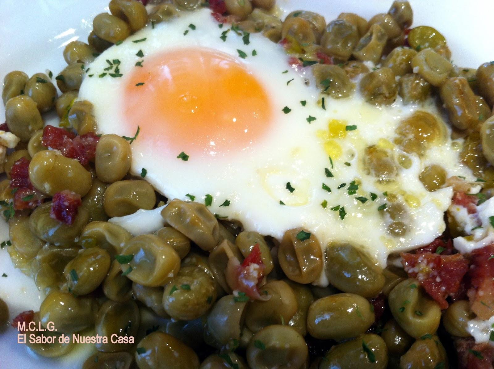 Habitas con huevo y jam n - Habas frescas con jamon ...