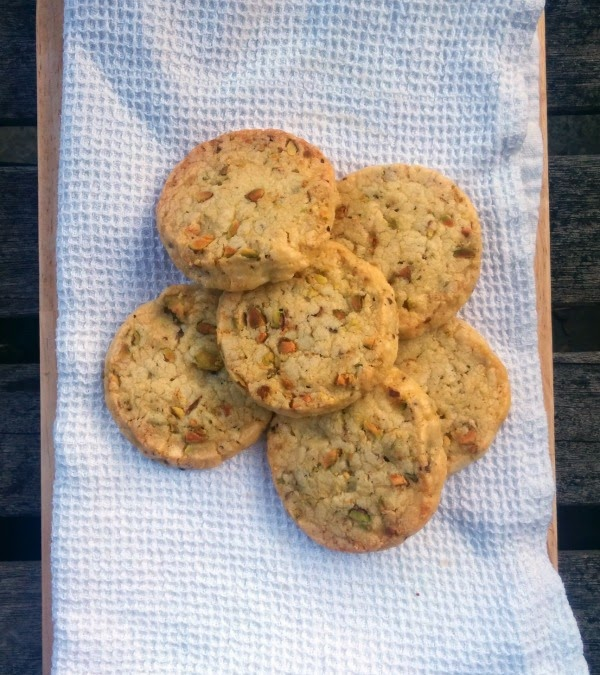 Pistachio Shortbread Biscuits  via  www.mylittlekitchenblog.co.uk
