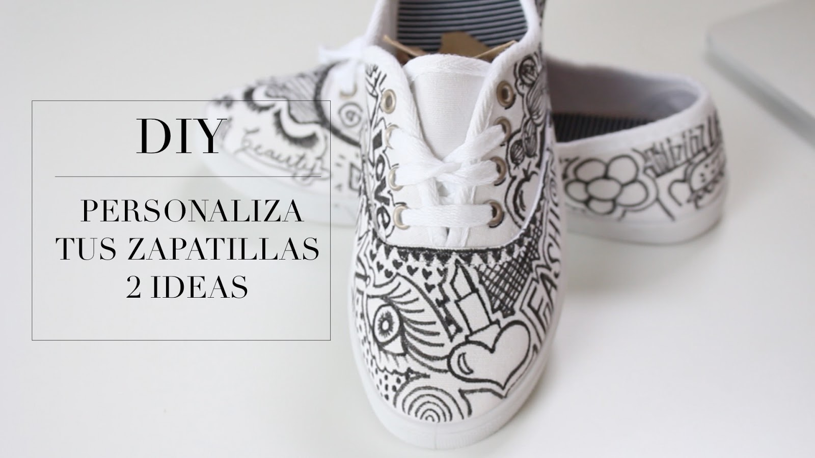 2 ideas para decora tus tennis zapatillas fashion riot - Ideas para decorar zapatos de nina ...