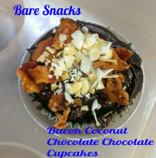 bare snacks bacon coconut chocolate chocolate cupakes