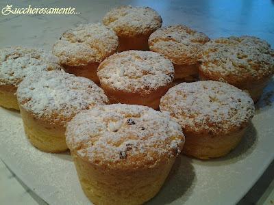 Muffin al limone e cioccolato bianco
