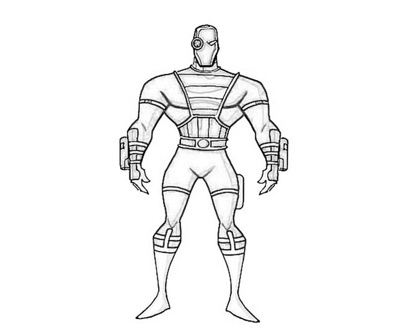 deadshot coloring pages Batman Arkham City Deadshot Portrait | How Coloring deadshot coloring pages