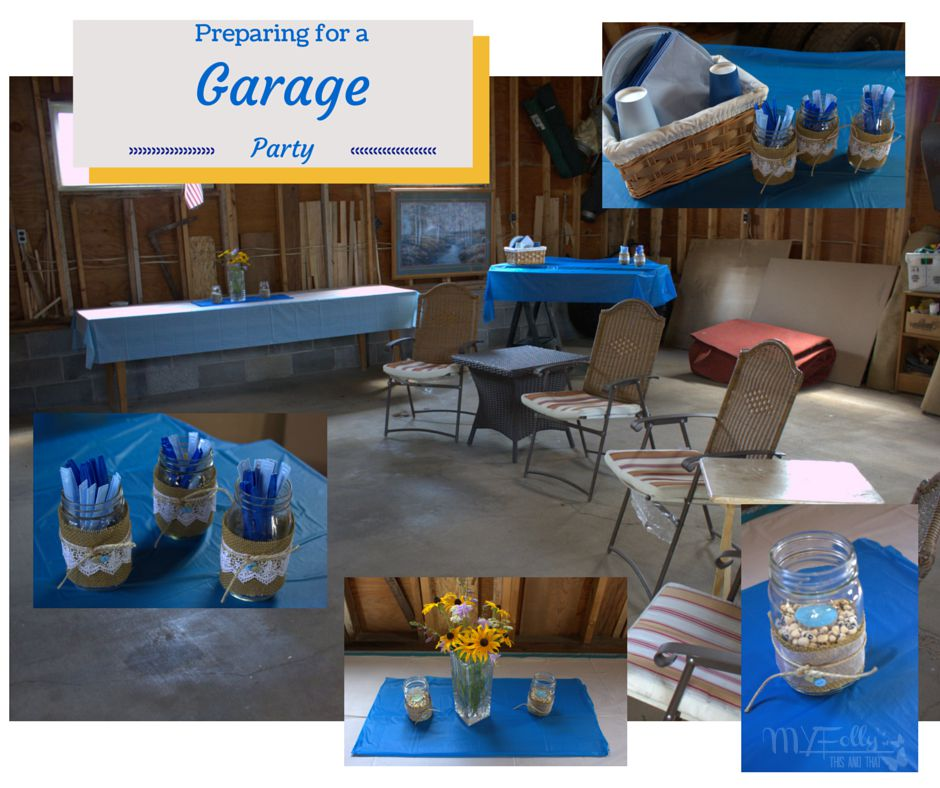 Garage Decorated For Party: This And That: Preparing For A Garage Party