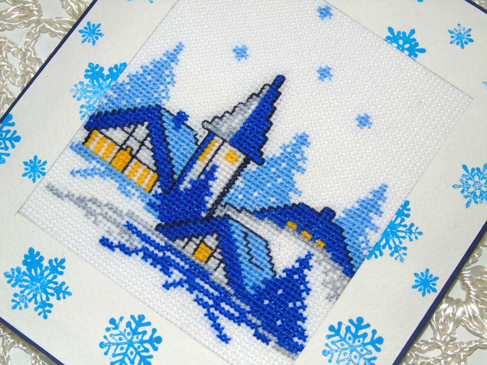 Схемы вышивки для новогодних подарков - Handmade 54