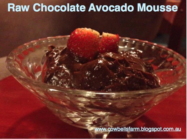 Raw Chocolate Avocado Mousse