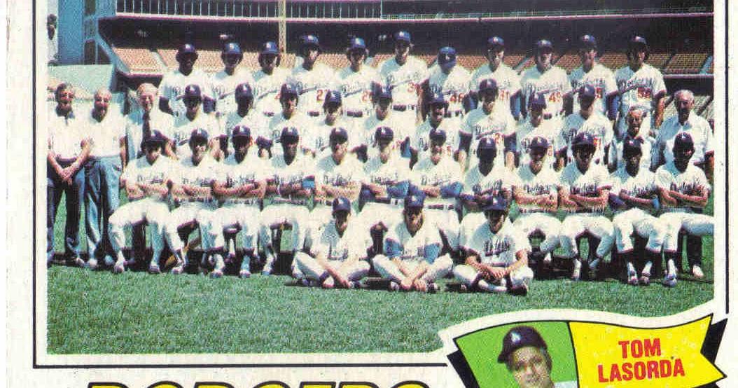 Baseball Card 1977 Topps - Base Los Angeles Dodgers Team; Tommy Lasorda #504