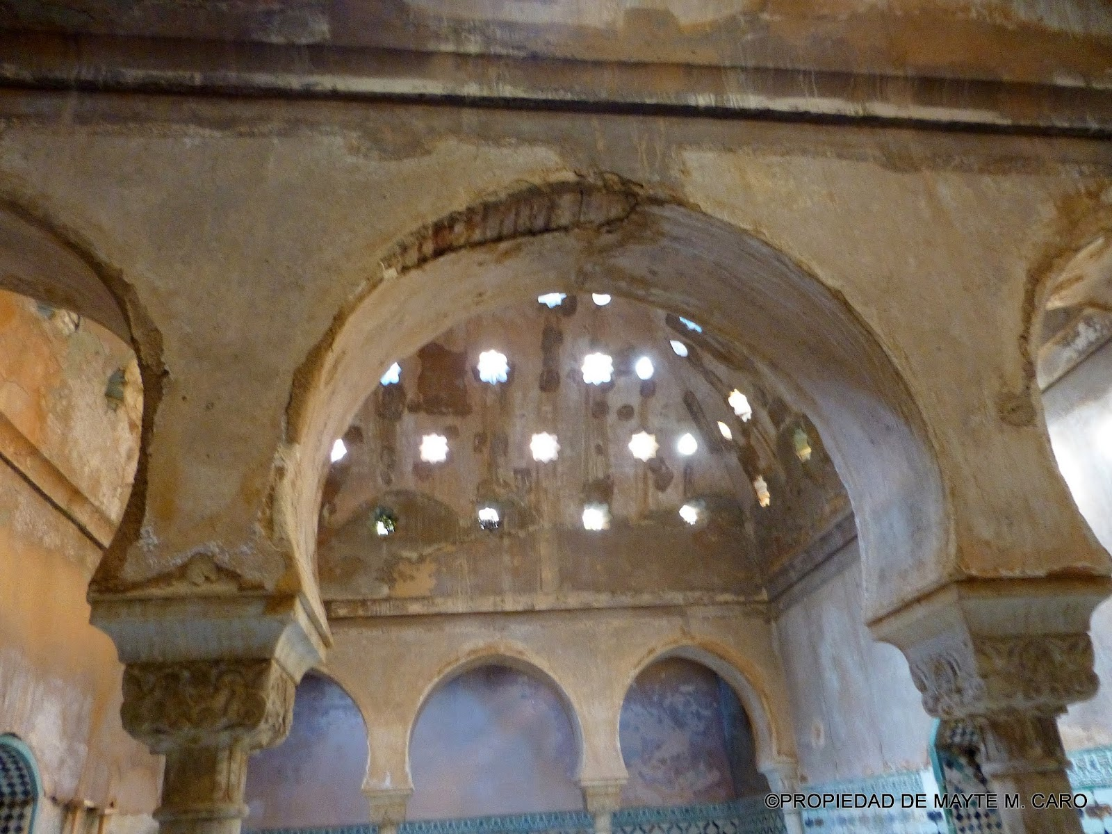 Granada ciudad viva el ba o de comares ba o real como - Banos arabes palacio de comares ...