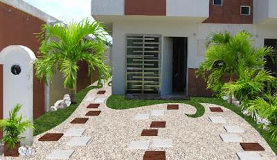diseño de jardines pequeños minimalistas, jardines en patios y frentes de casas