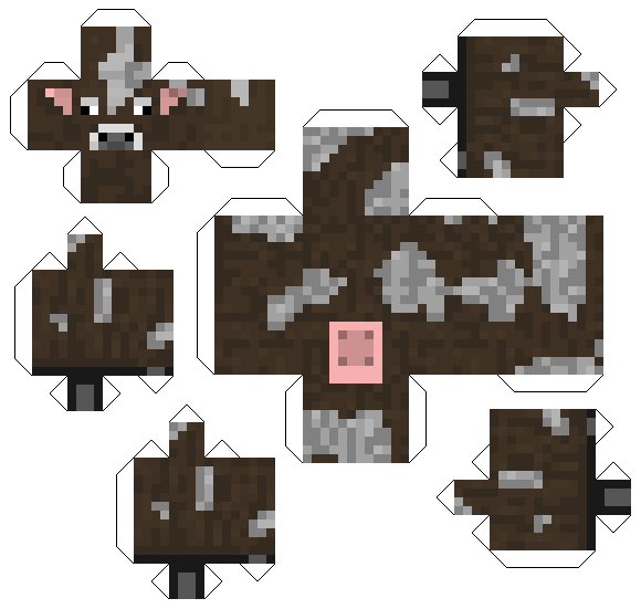 minecraft pig papercraft printable pig make your own minecraft cow