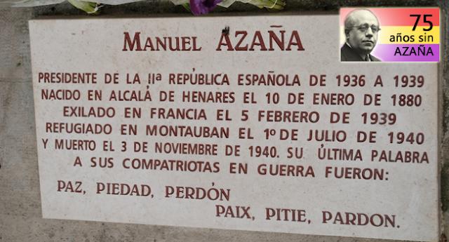 El entierro mexicano de Manuel Azaña
