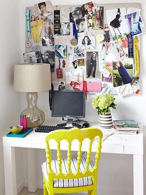 dormitorio con escritorio chica adolescente