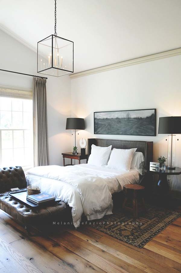 Roses and rust time to man up creating a masculine bedroom for Modern master bedroom ideas pinterest