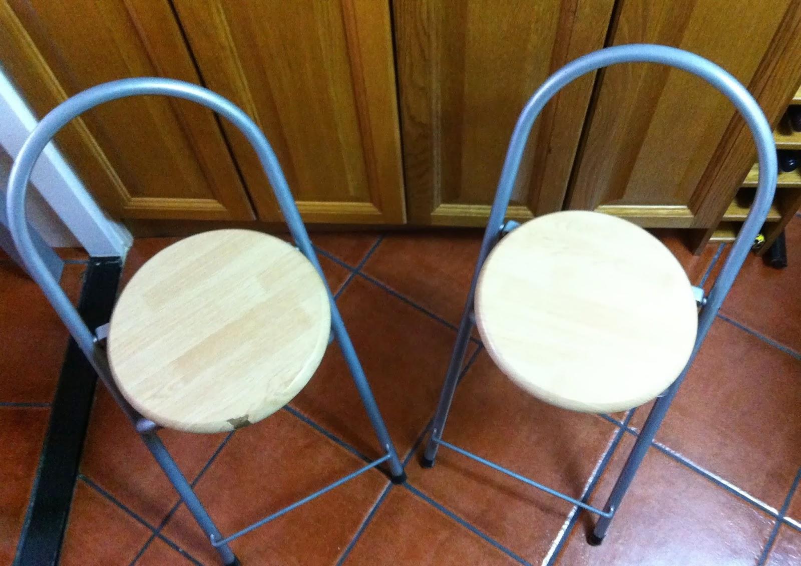 Las manualidades de yiya arreglando las sillas de la cocina - Telas para sillas de cocina ...
