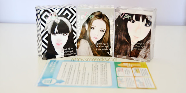 Klenspop's circle lenses are packaged adorably in illustrated boxes with a unique wear-and-care guide.