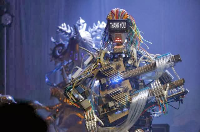 Do You beleive Robots can play gitar and drums