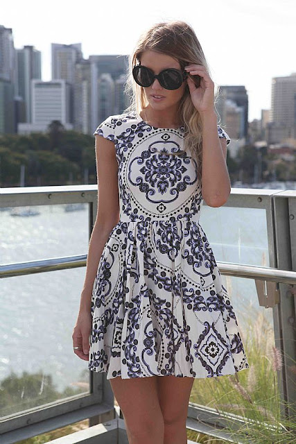Paisley print mini dress from Xenia