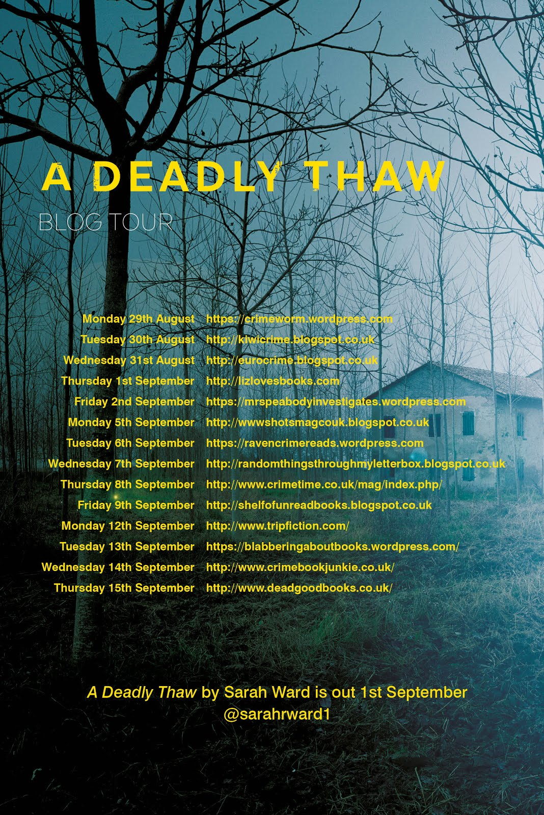 A Deadly Thaw - Blog Tour